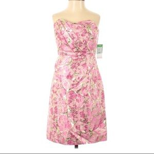 NWT Lilly Pulitzer Strapless Floral Cocktail Dress
